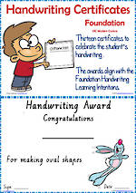 Foundation Handwriting | Visible Learning | Achievement Certificates | VIC PreCursive