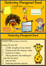 Foundation Handwriting  | Management | Activity Cards | SA Print
