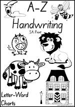 Foundation Handwriting | Management | Letter – Word | Black and White | Display | SA Print