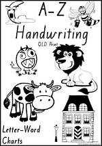 Foundation Handwriting | Management | Letter – Word | Black and White | Display | QLD Print
