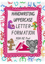 Year 1 Handwriting | Letter Formation | UPPERCASE | Colour Charts | NSW-NZ Print