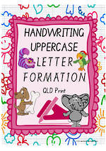 Year 1 Handwriting   Letter Formation   UPPERCASE   Colour Charts   QLD Print