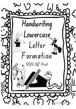 Year 1 Handwriting | Letter Formation | Lowercase | Charts | NSW-NZ Print