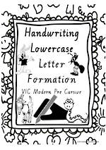 Year 1 Handwriting | Letter Formation | Lowercase | Charts | VIC PreCursive