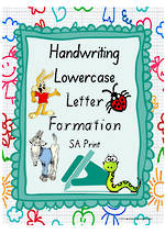 Year 1 Handwriting | Letter Formation |  Lowercase | Colour Charts | SA Print