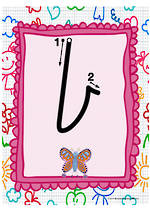 Year 1 Handwriting | Letter Formation | Lowercase | Colour Charts | VIC Print