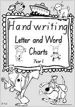 Year 1 Handwriting | Letter Formation | Letter - Word | Black & White  Pages | SA Print