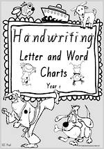 Year 1 Handwriting | Letter Formation | Letter - Word |  Black & White Pages | VIC Print