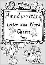 Year 1 Handwriting | Letter Formation | Letter - Word | Black & White Pages | VIC PreCursive