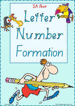 Year 1 Handwriting | Formation| Letter – Number | Charts | SA Print