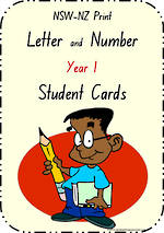 Year 1 Handwriting | Letter Formation | Table  Cards | NSW-NZ  Print