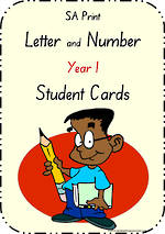 Year 1 Handwriting | Letter Formation | Table  Cards | SA  Print