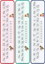 Year 1 Handwriting | Letter Formation | Table  Cards | VIC PreCursive
