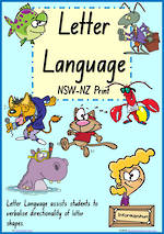 Year 1 Handwriting | Terminology | Lowercase Letter | Charts | NSW-NZ Print