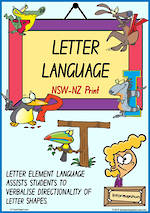 Year 1 Handwriting | Terminology | Uppercase Letter | Charts | NSW-NZ Print
