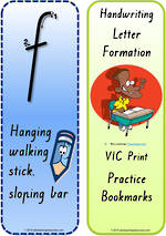 Year 1 Handwriting | Terminology |  Bookmark | Lowercase Letter| Cards | VIC Print