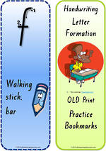 Year 1 Handwriting | Terminology |  Bookmark | Lowercase Letter | Cards | QLD Print