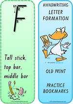 Year 1 Handwriting | Terminology | Bookmark | Uppercase Letter | Cards | QLD Print