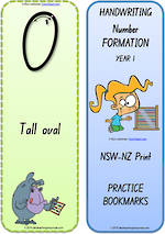 Year 1 Handwriting | Terminology |  Bookmark | Number | Cards | NSW-NZ Print