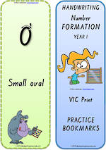 Year 1 Handwriting | Terminology | Bookmark | Number | Cards | VIC Print