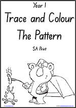 Year 1 Handwriting | Practice | Pattern and Shapes | Black and White | Charts | SA Print