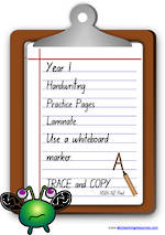 Year 1 Handwriting | Practice | Letter | Laminate Cards | NSW-NZ Print