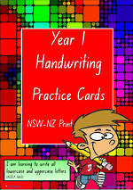 Year 1 Handwriting | Practice | A-Z Letter- Word - Number | NSW-NZ Print