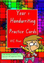 Year 1 Handwriting | Practice | A-Z Letter- Word - Number | VIC Print