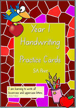 Year 1 Handwriting | Practice | Letter - Number - Sentence | Cards | SA Print