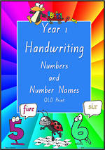 Year 1 Handwriting | Practice | Number |  Number Names | QLD Print