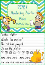 Year 1 Handwriting | Practice | Poems | NSW-NZ Print