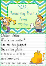 Year 1 Handwriting | Practice | Poems | VIC Print