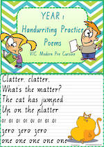 Year 1 Handwriting | Practice | Poems | VIC PreCursive