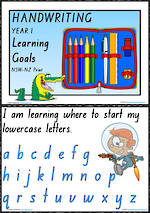 Year 1 Handwriting | Visible Learning | Learning Goals | NSW-NZ Print