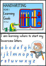 Year 1 Handwriting | Visible Learning | Learning Goals | SA Print