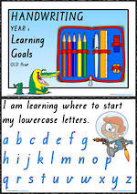 Year 1 Handwriting | Visible Learning | Learning Goals | QLD Print