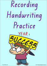 Year 1 Handwriting | Visible Learning | Recording | Colour Sheets | QLD Print