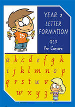 Year 2 Handwriting | Letter Formation | Uppercase | Lowercase| Colour Charts | QLD PreCursive