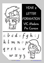 Year 2 Handwriting | Letter Formation | Uppercase | Lowercase | VIC PreCursive