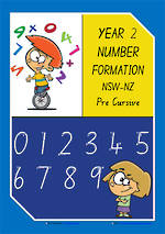 Year 2 | Handwriting | Number Formation | Colour Charts | NSW-NZ PreCursive