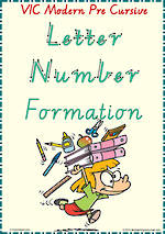 Year 2 | Handwriting | Letter – Number  Formation| Charts | VIC PreCursive