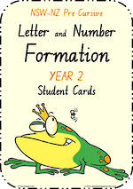 Year 2 | Handwriting | Letter Formation | Table  Cards | NSW-NZ PreCursive