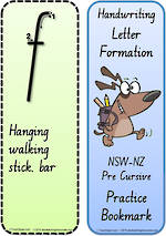 Year 2 Handwriting | Terminology | Bookmark | Lowercase Letter | Cards |NSW-NZ PreCursive