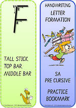Year 2 Handwriting | Terminology | Bookmark | Uppercase Letter | Cards | SA PreCursive