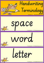 Year 2 Handwriting | Terminology | Flashcards | SA PreCursive