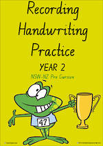 Year 2 Handwriting | Visible Learning | Recording | Colour Sheets | NSW-NZ PreCursive