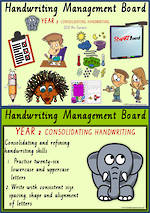 Year 2 Handwriting | Management | Cards | QLD PreCursive