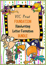 Foundation Handwriting | Letter Formation | BUNDLE | VIC Print