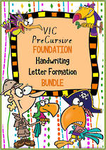 Foundation Handwriting | Letter Formation | BUNDLE | VIC PreCursive