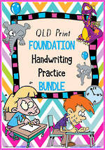 Foundation Handwriting | Practice | BUNDLE | QLD Print
